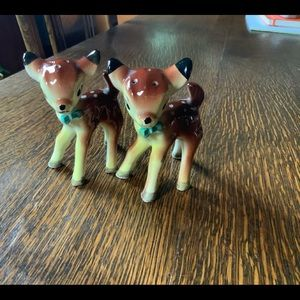 Antique Deer Salt-n-Pepper set